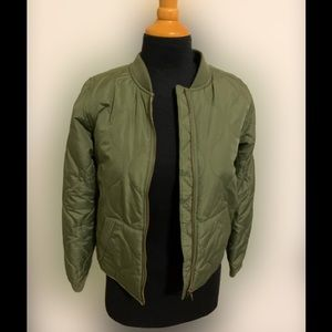 Girls Old Navy green jacket size xl 14